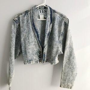 Vintage Ruby Yaya Cropped Denim Jacket